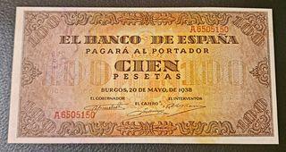 BILLETE 100 PESETAS 1938 SERIE A BURGOS
