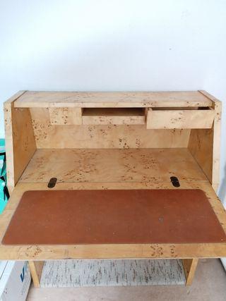 escritorio madera raíz años 70