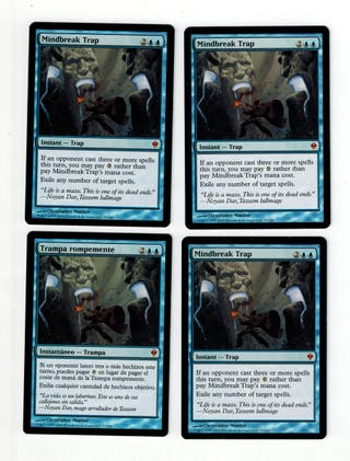 MTG 4 x mindbreak trap (trampa rompemente)