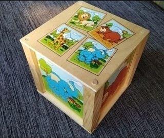 Cubo puzzle de madera