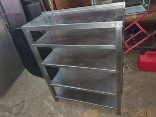 deja wasap mueble de acero inoxidable con estante
