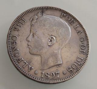 Moneda Plata 5 pesetas