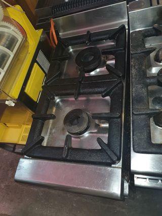 deja wasap cocina industrial de doble fuego
