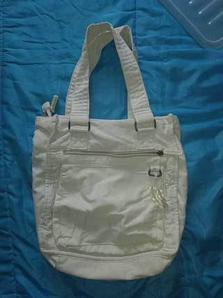 bolso blanco de tela