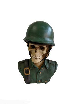 Calavera 96.W.U. busto soldado militar , Calavera