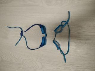 Dos pares de gafas de natación para niños