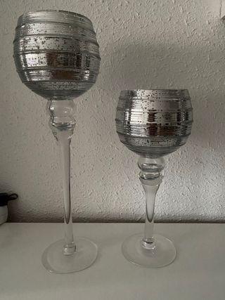 Par de copas decorativas