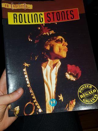 revista libro rolling stones en concierto
