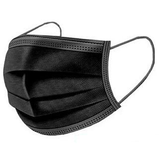 10 Mascarillas 3 capas color negro