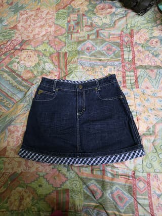 Minifalda vaquera talla 8 años