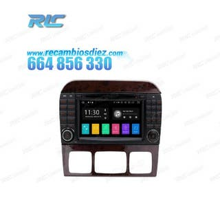 RADIO GPS ANDROID 10 MERCEDES S W220 (98-05)