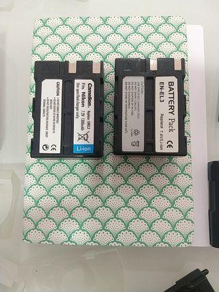 Pack de 2 Baterías Nikon EN-EL3 Clónicas