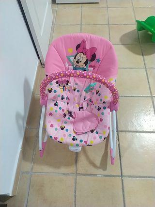 hamaca bebe Minnie mouse con vibrador