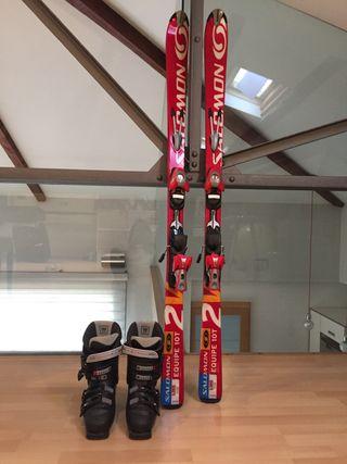 Pack esquís Salomon+Fixacions+Botes esquí Salomón