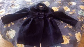 abrigo niña azul marino