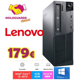TORRE PC LENOVO INTEL I5 + 500GB HDD + 4GB RAM
