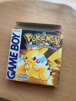 CAJA Pokemon Amarillo Original