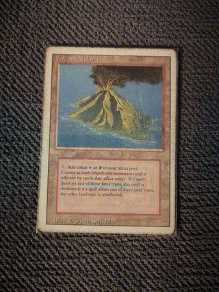 Volcanic island. MTG. Revised. Played.