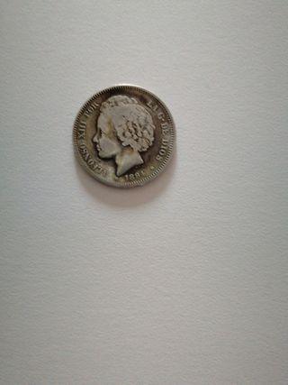 Moneda de plata de Alfonso Xlll