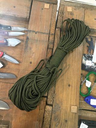 Cuerda verde 7 mm, 31 metros
