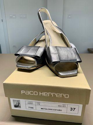 Zapato vestir gris metalizado