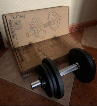 Kit musculacion 20 kg ENVÍO GRATIS