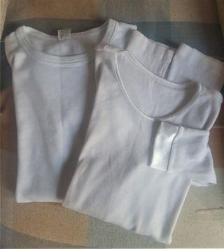 2 Camisetas interior niña T. 10