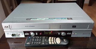 JVC video VHS y DVD