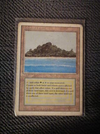 Tropical island. MTG. Revised. Light played