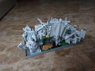 Regimiento guerreros orcos. Imprimados. Warhammer