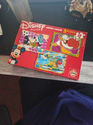 puzzle disney mickey mouse 3 puzzles
