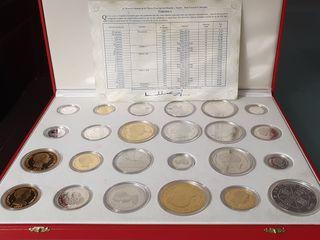 24 Monedas de Plata y Oro