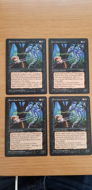 4 x Horror Krovikano Magic The Gathering