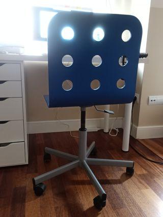 silla de escritorio azul