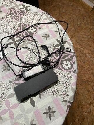 Bateria portatil y cable alimentación
