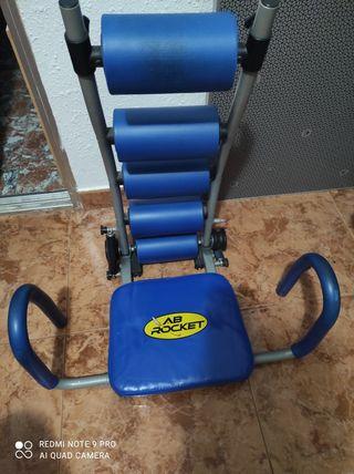 silla abdominales dominadas y pelota