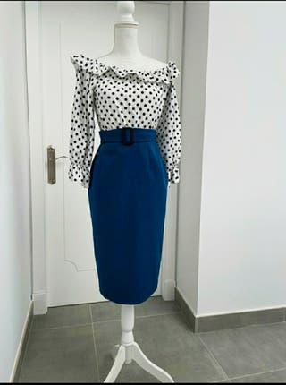 Conjunto top + falda