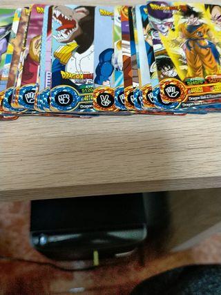 72 cartas Dragón ball Resurrection F