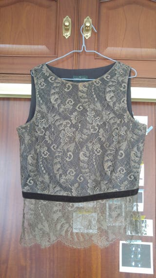 camisa encaje Roberto verino t42