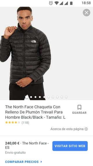 Chaqueta estilo plumón unisex The North Face.