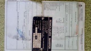 documentación remolque de coche