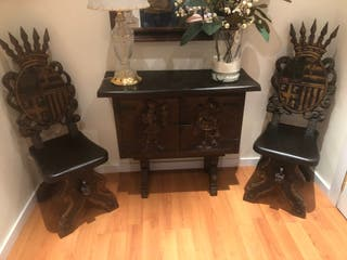 Muebles recibidor antiguo vintage