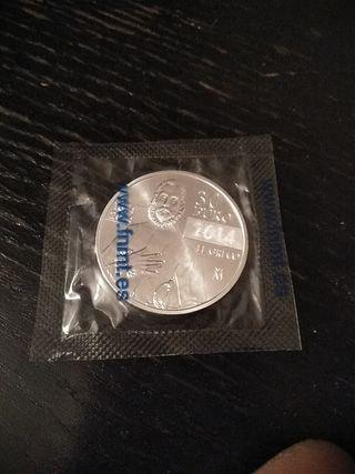 moneda 30 euro. plata.