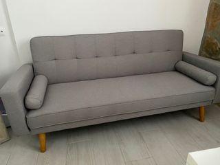 Sofás cama nuevo gris de tela