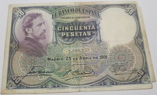 Billete 50 Pesetas 1931