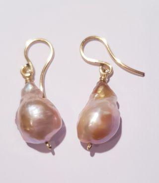 Pendientes plata y perlas cultivadas