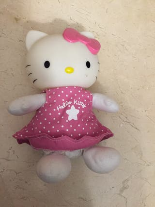 Peluche luz y música Hello Kitty