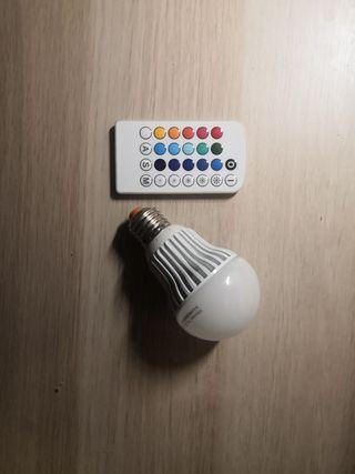 Bombilla Led RGB con mando intercambiable