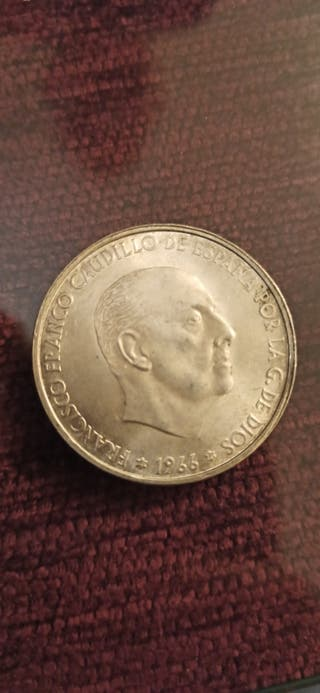Monedas de 100 pesetas de plata 1966