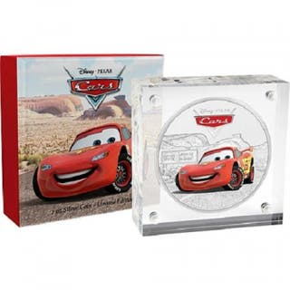 Moneda Disney Pixar MCQUEEN 1 oz plata